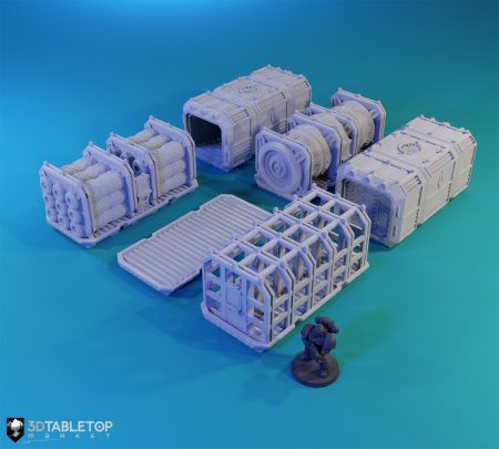 Sci-fi Shipping Container - Random Selection (6 Variants)
